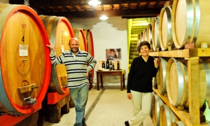 The Natalini family, owner of Podere Le Bèrne | The vineyards in Montepulciano of Podere Le Bèrne ||
