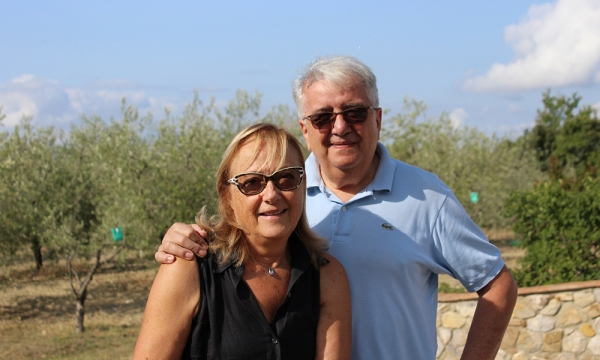 Roberto and Sandra, the owners of Querce Bettina | The vineyards of Querce Bettina in Montalcino ||