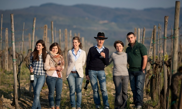 The Matta family, owner of Castello di Vicchiomaggio